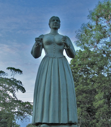 The statue of Gajaman Nona in Nonagama,Tangalle,Sri Lanka